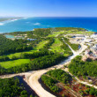Stock Photo: Caribbeisland from helicopter view