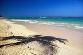 Beau panorama de ciel bleu et la mer des caraïbes — Photo