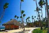 Caribbean summerhouse on beach — Stock Photo