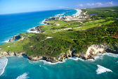 Dominican Republic from helicopter view — Stock Photo