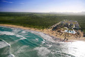 Dominican resort from helicopter view — Stock Photo