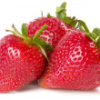 three strawberries — Stock Photo