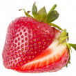 Stock Photo: Sliced strawberry