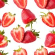 Sliced strawberries seamless wallpaper — Stock Photo