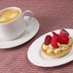 Espresso and tart — Stock Photo #3338751