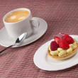 Espresso and tart — Stock Photo