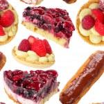 Pies and tarts seamless wallpaper — Stock Photo