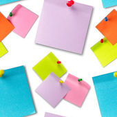 Sticker notes seamless wallpaper — Stock Photo