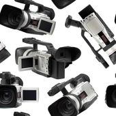 Camcorders seamless wallpaper — Stock Photo