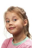 Мало улыбается девушка — Стоковое фото