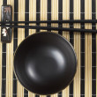 Bowl and chopsticks — Foto de Stock