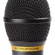 Black wireless microphone - Stock Photo