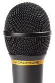 Black wireless microphone — Stock Photo