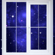 The star sky behind a window — Stock Photo #3642941