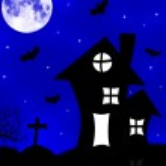Halloween spooky house — Stock Photo