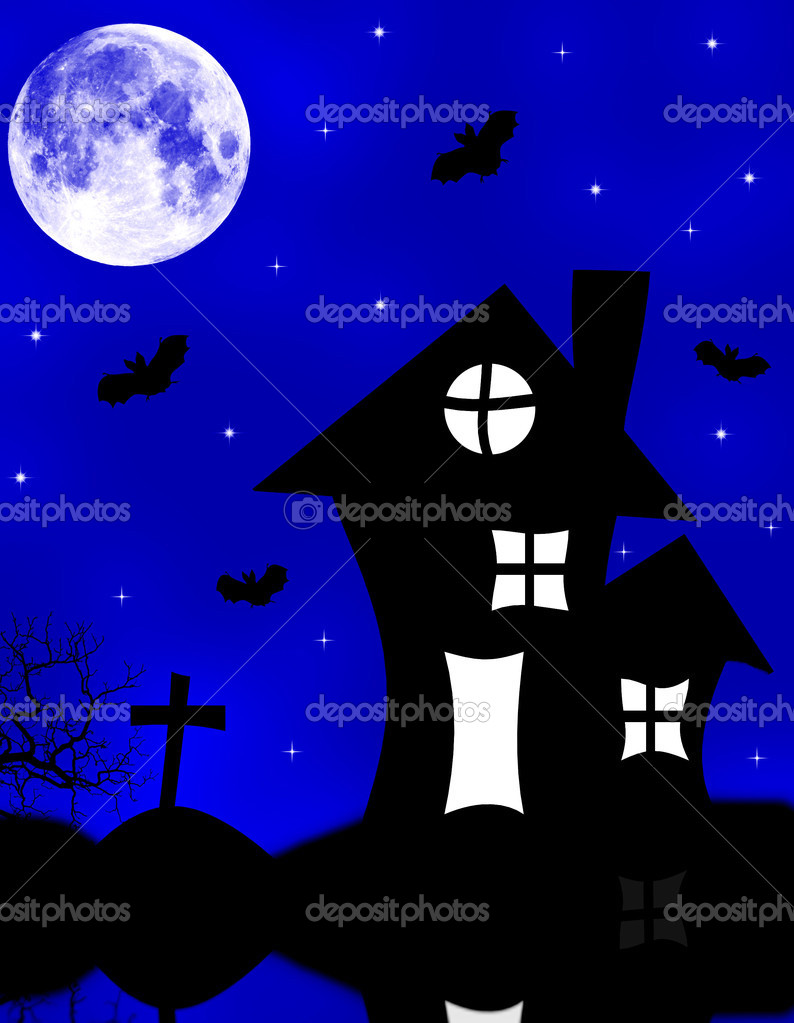 Halloween spooky house  — Stock Photo #3803085
