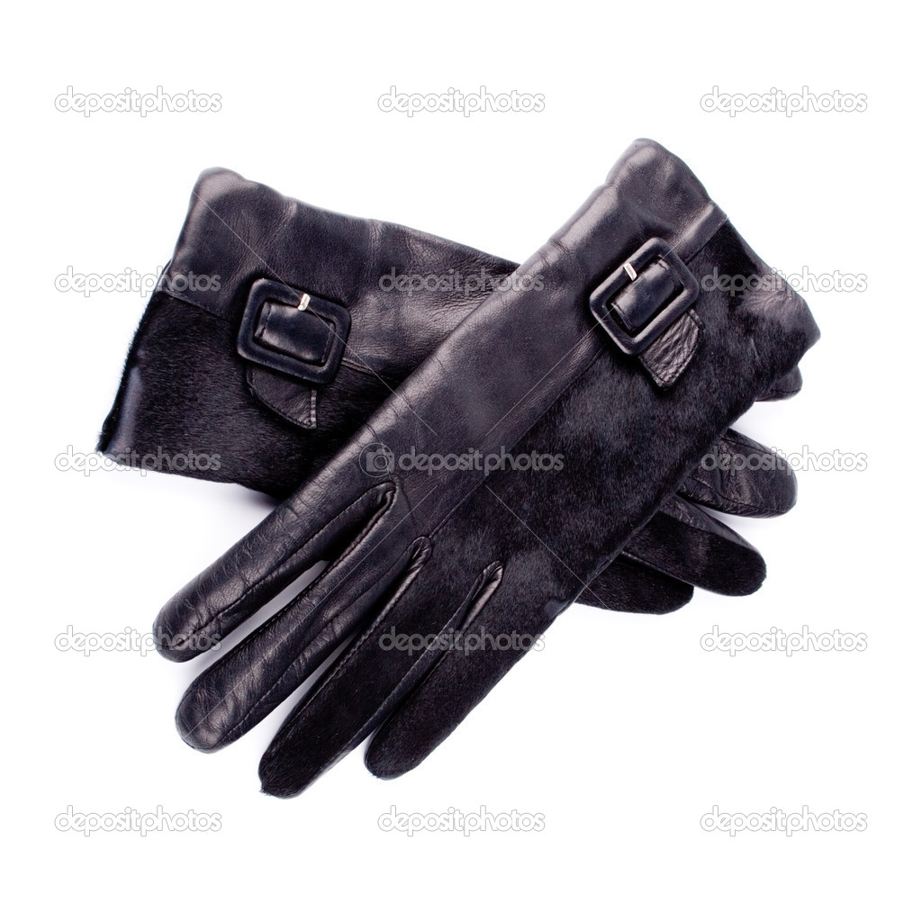 Black gloves isolated on white background — Stock Photo #3086453