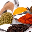 Various ground spices - Stock Photo