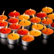 Flaming candles - Stok fotoğraf