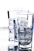 Glasses with cold water — Stock Photo