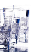 Three glasses with cold water — Stock Photo