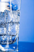 Glass with cold water — Foto Stock