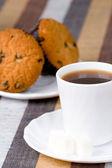 Café y panecillos — Foto de Stock