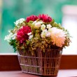 Stock Photo: Flowers on the windowsill