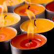 Flaming candles - Foto de Stock  
