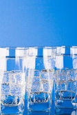 Occhiali con acqua fredda — Foto Stock
