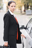 Beautiful businesswoman — Stock Photo