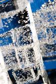 Copos com água fria — Foto Stock