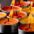 Flaming candles - Stok fotoraf