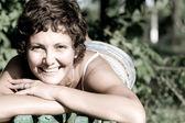 Smiling brunet woman — Stock Photo
