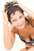 Brunet 女人 — 图库照片