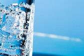 Glass with cold water — Stock Photo