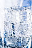 Ice cubes and water bubbles — Stock Photo