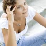 Attractive brunet woman — Stock Photo