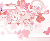 Floral pattern pink — Stock Vector