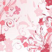 Design pink floral sprays — Stock Vector