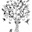 Vintage tree - Stock Vector