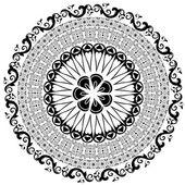 Baroque pattern round — Stock Vector