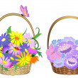 Flower baskets — Stock Vector #2926422