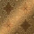 ストックベクタ: Arabeskue seamless background gold