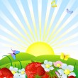 Fresh strawberries — Stock Vector #2983744