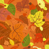 Seamless background from the leaves — Stock Vector