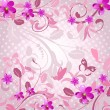 Stock Vector: Abstract floral pattern pink