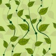 Pattern of vines green peas — Image vectorielle