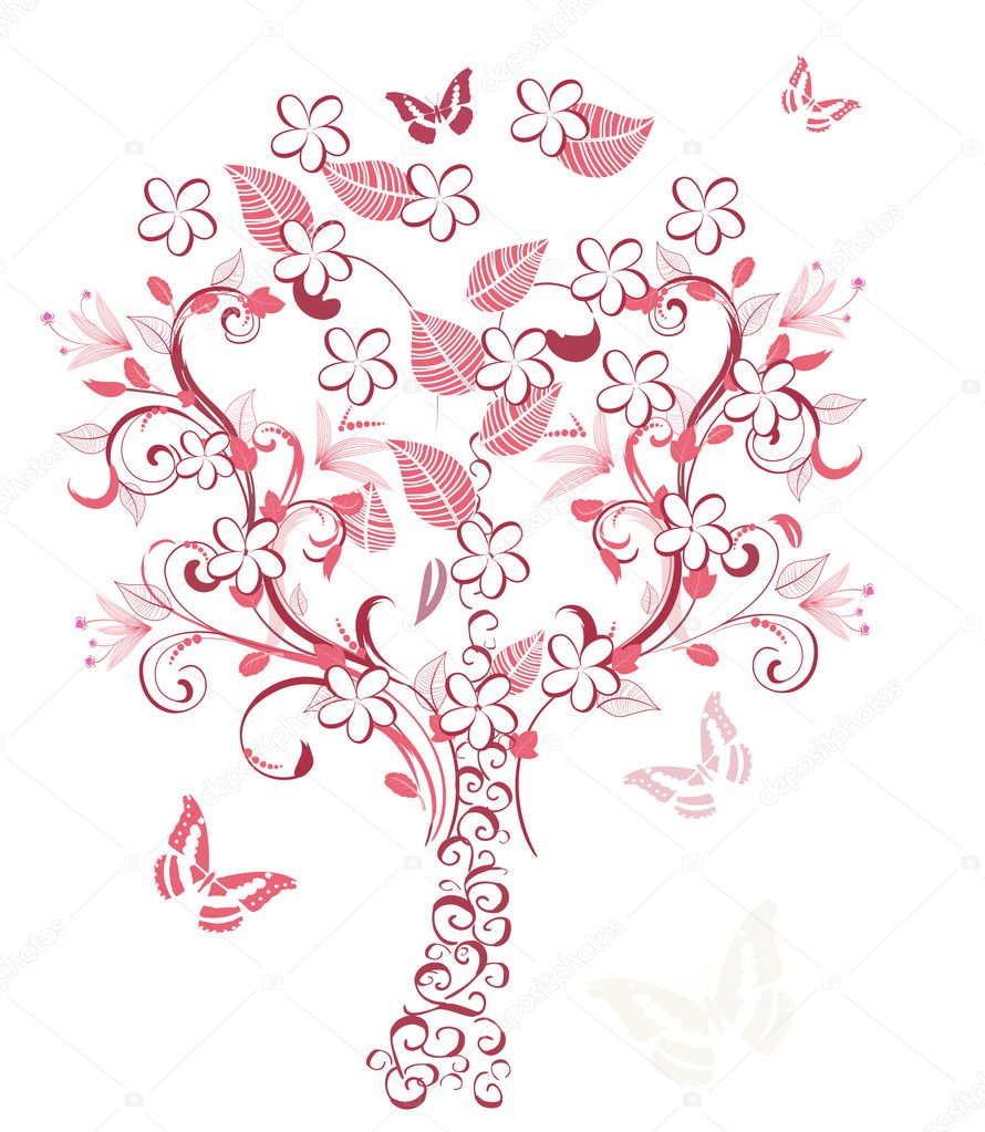 Cherry tree  Stock Vector #3047014