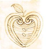 Apple decorative pattern — Stock Vector